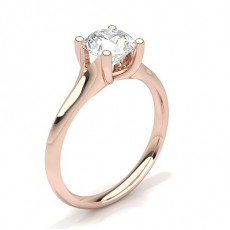 4 Prong Setting Plain Engagement Ring - CLRN69_01