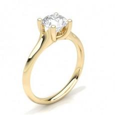 Bague de fiançailles solitaire diamant serti 4 griffes - CLRN69_01