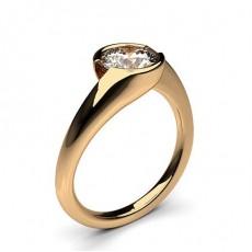 Bague de fiançailles solitaire diamant serti rail - CLRN70_01