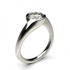 Semi Bezel Setting Plain Engagement Ring - CLRN70_01