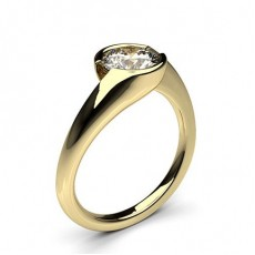 Semi Bezel Setting Plain Engagement Ring - CLRN70_01