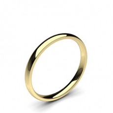 Low Dome Comfort Fit Classic Plain Wedding Band - HG0658_42