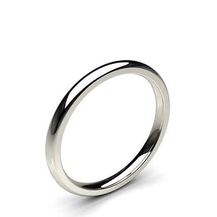 Buy High Dome Comfort Fit Classic Plain Wedding Band Diamondsfactory Co Uk