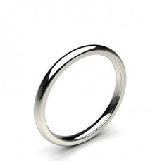 Low Dome Comfort Fit Classic Plain Wedding Band (Available from 2.00mm to 4.00mm)