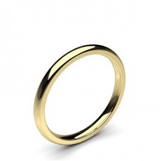 Low Dome Comfort Fit Classic Plain Wedding Band - CLRN71_01
