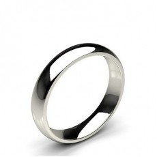 Low Dome Comfort Fit Classic Plain Wedding Band
