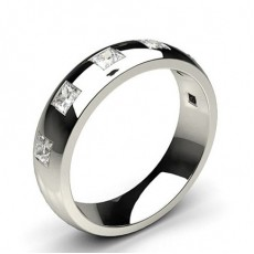 6.00mm Studded Low Dome Comfort Fit Mens Wedding Band  - CLRN71_03