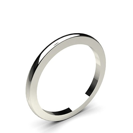 1.60mm Low Dome Comfort Fit Classic Plain Wedding Band