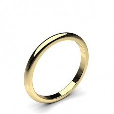 High Dome Standard Fit Classic Plain Wedding Band - CLRN74_01
