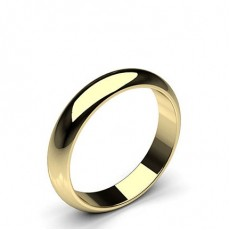 High Dome Standard Fit Classic Plain Wedding Band - HG0655_7