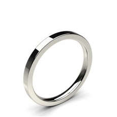 Flat Profile Comfort Fit Classic Plain Wedding Band