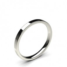 Flat Profile Comfort Fit Classic Plain Wedding Band - HG0652_P19