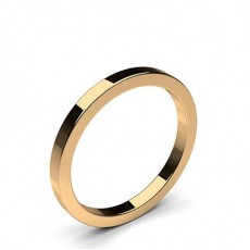 Women's Rose Gold Plain Wedding Rings