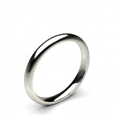 High Dome Comfort Fit Classic Plain Wedding Band - CLRN83_01