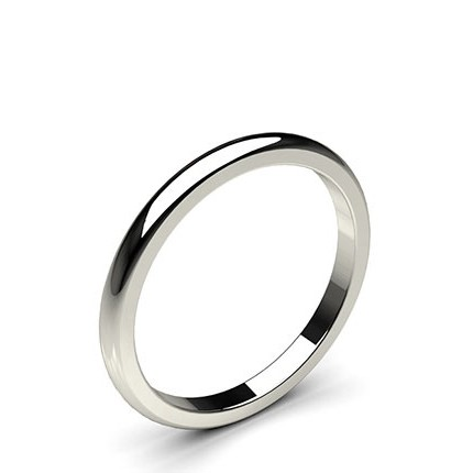 Low Dome Standard Fit Classic Plain Wedding Band