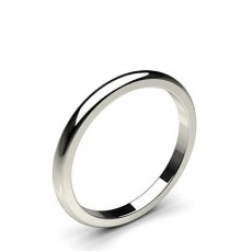 Low Dome Standard Fit Classic Plain Wedding Band - CLRN86_01