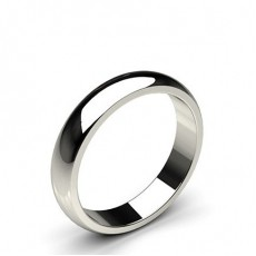 Low Dome Standard Fit Classic Plain Wedding Band - CLRN86_02