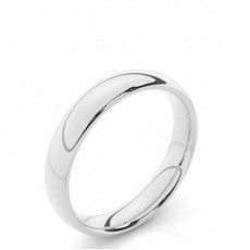 Court Profile Comfort Fit Classic Plain Wedding Band (Available from 4.00mm to 7.00mm)