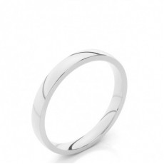 2.50mm Court Profile Comfort Fit Classic Plain Wedding Band