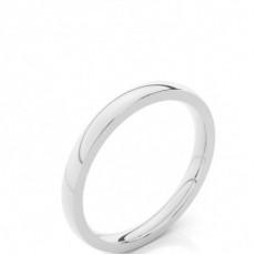2.30mm Court Profile Comfort Fit Classic Plain Wedding Band - CLRN89_03