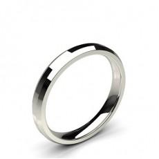 Beveled Profile Comfort Fit Classic Plain Wedding Band - CLRN92_01