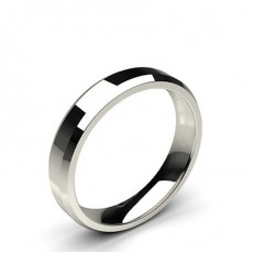 Beveled Profile Comfort Fit Classic Plain Wedding Band