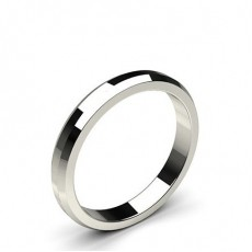 Beveled Profile Standard Fit Classic Plain Wedding Band - CLRN95_01