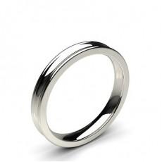 Concave Profile Comfort Fit Classic Plain Wedding Band - CLRN98_01