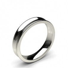 Concave Profile Comfort Fit Classic Plain Wedding Band - CLRN98_02