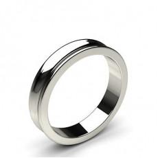 Concave Profile Standard Fit Classic Plain Wedding Band - CLRN101_02
