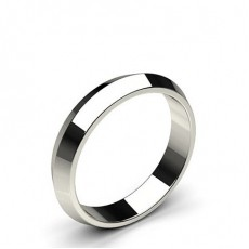 Knife Edge Standard Fit Classic Plain Wedding Band