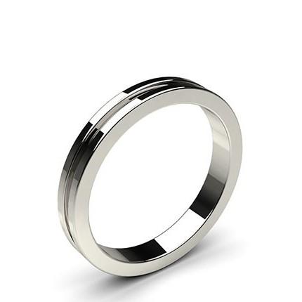 Halb Eternity Schwarzer Diamant Ring in einer Kanalfassung