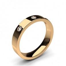 Round Rose Gold Wedding Bands