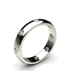 Studded Low  Dome Standard Fit Diamond Wedding Band - CLRN124_03