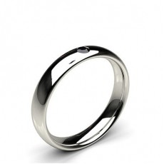 White Gold Black Diamond Men's Wedding Bands Bands