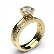 Yellow Gold Bridal Set Diamond Engagement Rings