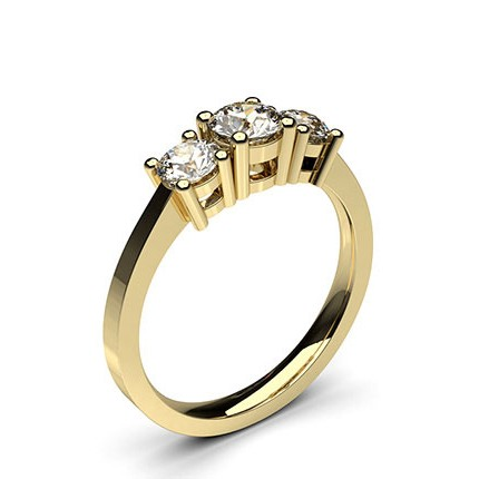 Yellow Gold Trilogy Diamond Engagement Ring