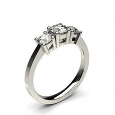 Round Trilogy Diamond Engagement Rings