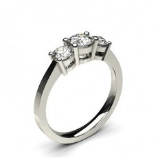 White Gold Trilogy Diamond Engagement Ring - CLRN238_01