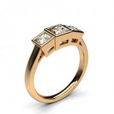 1.00ct. Drei Diamanten in einer Zargenfassung - CLRN240_02