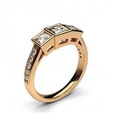 1.00ct. Drei Diamanten in einer Zargenfassung - CLRN240_04