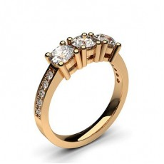 Rose Gold Trilogy Engagement Rings