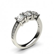 White Gold Trilogy Diamond Engagement Rings