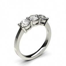 4 Prong Setting Plain Three stone Ring - CLRN243_01