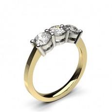 4 Prong Setting Plain Three stone Ring - CLRN243_01