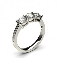 White Gold Trilogy Diamond Engagement Ring - CLRN243_02