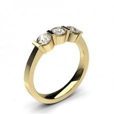 Gelbgold Trilogie Ringe