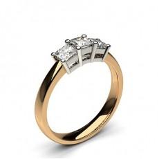 4 Prong Setting Plain Three stone Ring - CLRN245_01