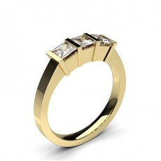 Yellow Gold Trilogy Diamond Rings