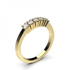 Or Jaune 5 Pierres Bague Diamant